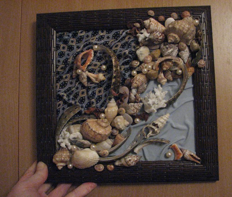 Как своими руками сделать картину из морских ракушек 30